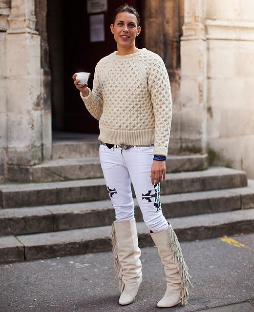 La diseñadora Isabel Marant vestida de su propia firma.